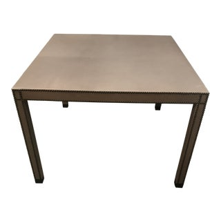 "Vanguard Furniture ""Tate"" Leather Upholstered Square Table For Sale"