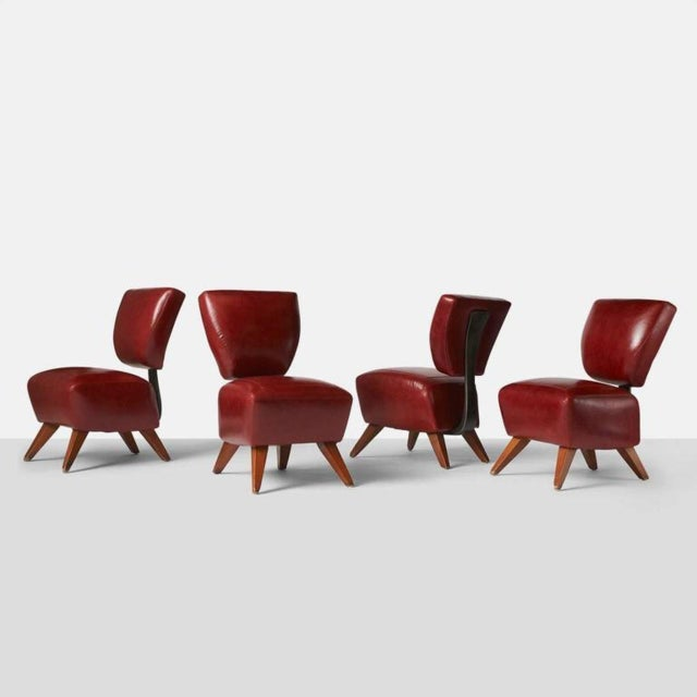 Red Fred Dining Chairs by Jordan Mozer For Sale - Image 8 of 8