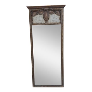 Italian Antique Gold Carved Wood Frame Decorative Wall Mirror For Sale
