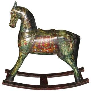 Vintage Painted Rocking Horse