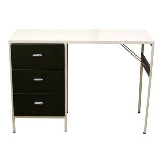Mid Century Modern George Nelson Herman Miller Steel Framed Desk 1950s 3 Drawer