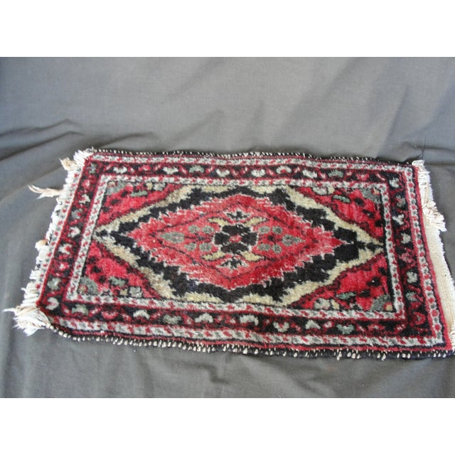 Vintage Wool Hand Tied Prayer Rug - 1′3″ × 2′2″ - Image 2 of 5