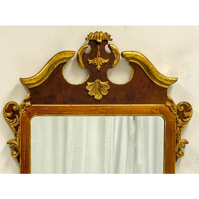 Vintage Decorative Crafts Italian Federal Style Mirror For Sale - Image 4 of 6