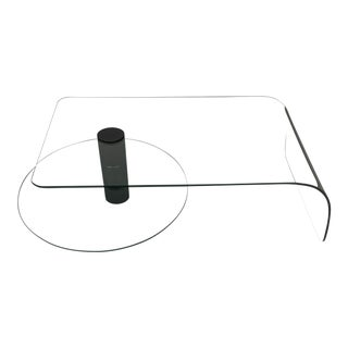 Price Reduced ! 1970s Vintage Fiam Glass Waterfall Coffee Table For Sale
