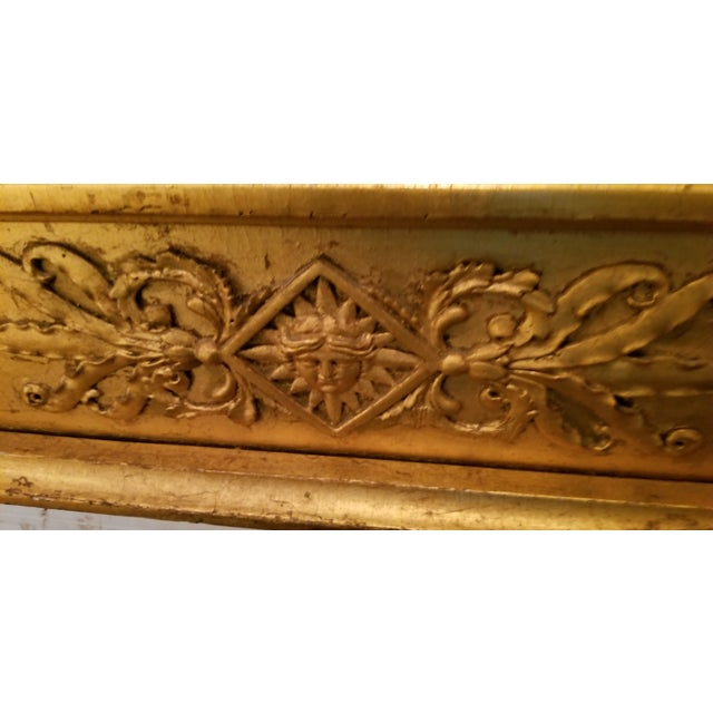 Tall Antique French Golt Gold Trumeau Mirror For Sale In Miami - Image 6 of 13