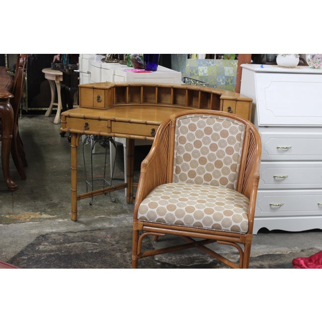 Ficks Reed Writing Desk & Chair - a Pair For Sale - Image 10 of 11