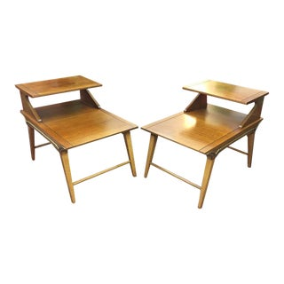 1960s Mid Century Modern Lane Lamp Tables - a Pair For Sale