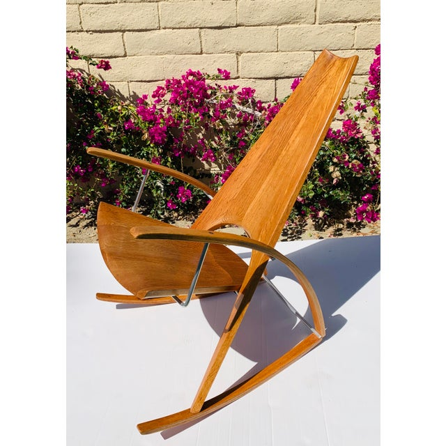 Mid Century Modern Leon Meyer Sculptural Rocking Chair For Sale - Image 4 of 13