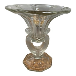 Mid 20th Century Art Deco Style Glass Table Lamp For Sale
