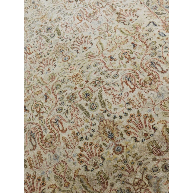 Beige Indian Hand-Knotted Rug - 6' x 9' For Sale - Image 8 of 10