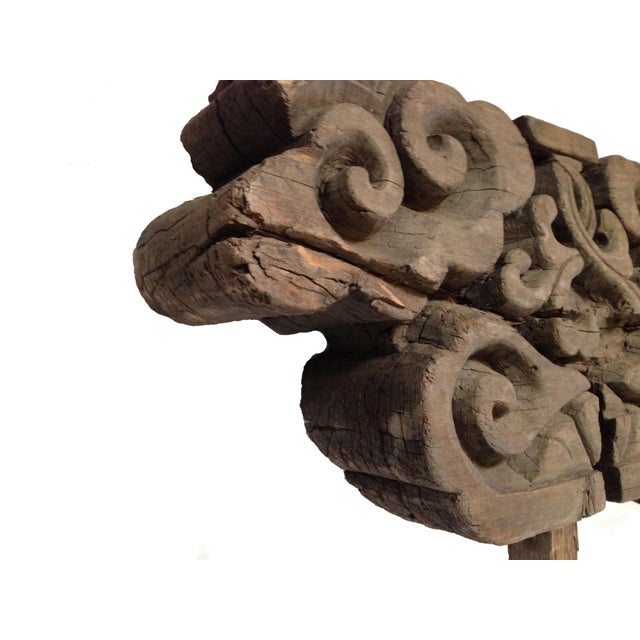 Chinese Early 19th Century Wood Block Garden Accent For Sale - Image 3 of 7