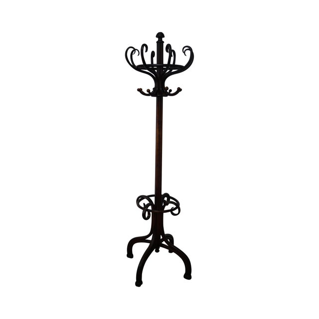 Small Hat Stand: Thonet Antique Bent Wood Hat & Coat Rack Stand