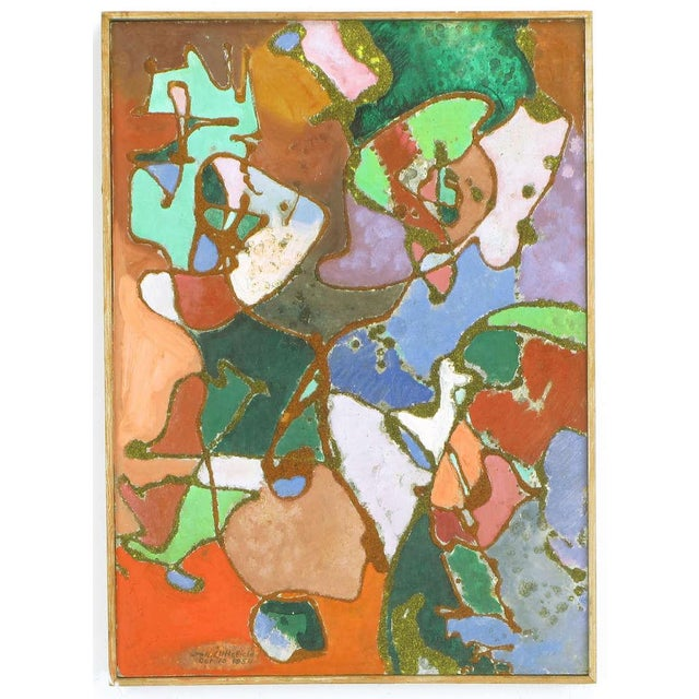 "Abstract expressionist painting entitled ""All Manner Of Thing,"" by William H Littlefield. Littlefield was a Provincetown..."