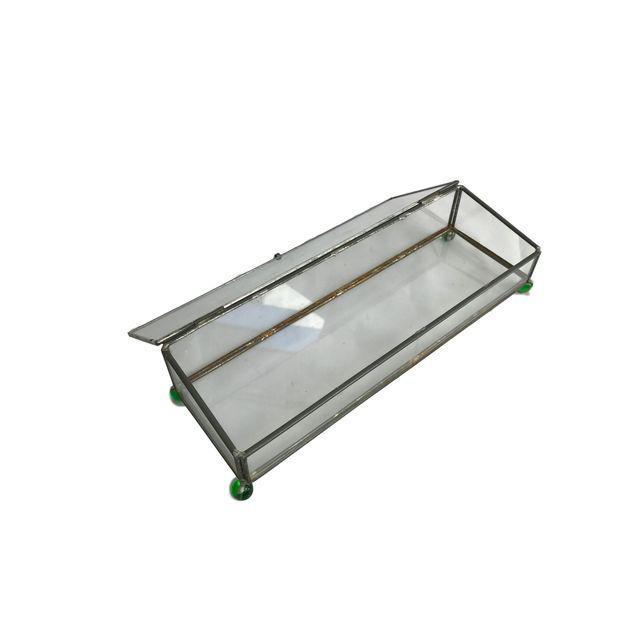 Rectangular Glass Box on 4 Marble Feet - Image 5 of 8