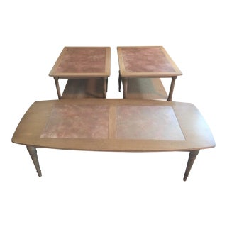 1950s Mid-Century Modern Drexel Sirocco Living Room Table Set - 3 Pieces For Sale