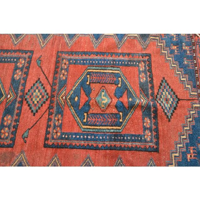 Textile Antique Persian Kelardasht Rug Runner - 4′3″ × 8′6″ For Sale - Image 7 of 10