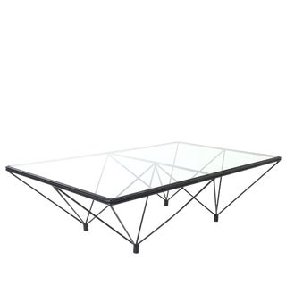 Iron and Glass Coffee Table in the Style of Paolo Piva For Sale