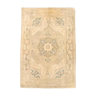 Northern Indian Woven Carpet - 5′1″ × 7′8″ For Sale