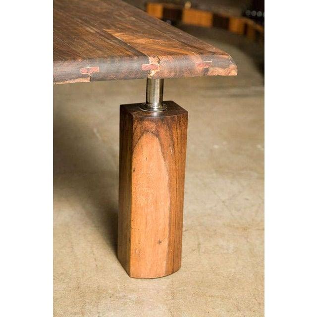 Wood Brazilian Rosewood Indoor/Outdoor Coffee Table For Sale - Image 7 of 9