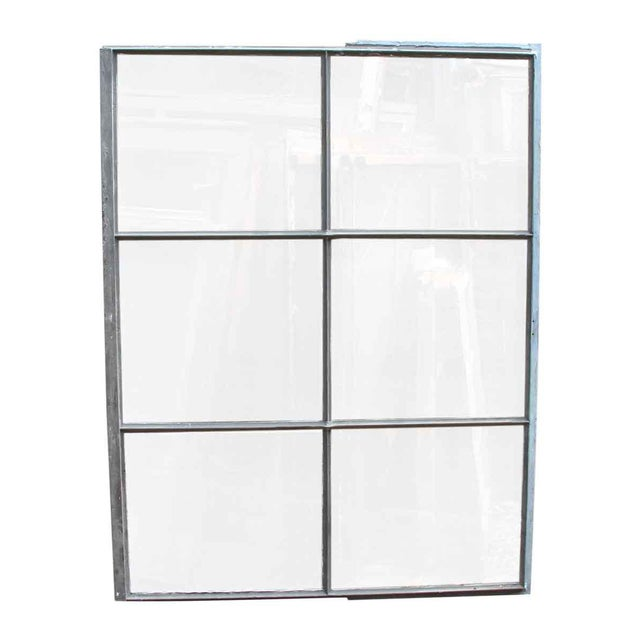 Industrial Industrial 6 Pane Steel Frame Glass Window For Sale - Image 3 of 7