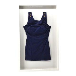 Vintage Dark Blue Bathing Suit Framed For Sale