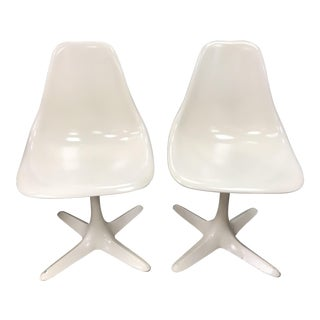 Mid-Century Modern Saarinen Style Tulip Dining Chairs- A Pair For Sale