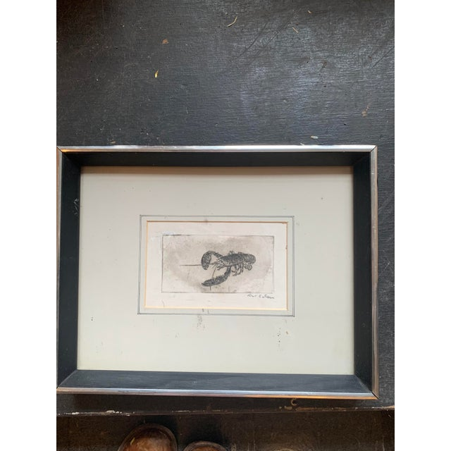 Framed Lobster Print For Sale - Image 4 of 6