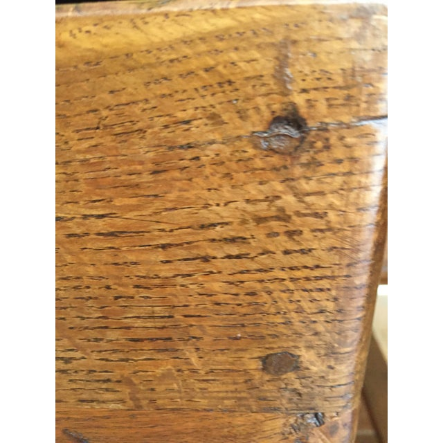 Early 19th Century Antique Hand Hewn Mahogany Table For Sale - Image 5 of 12