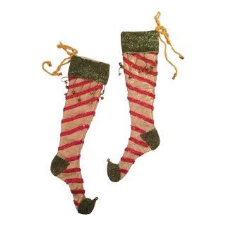 Whimsical Christmas Stockings - A Pair