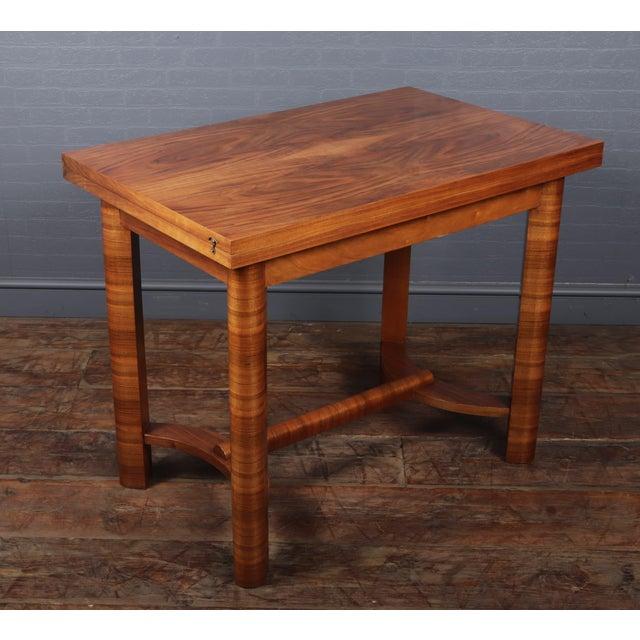 1930s 1930s Art Deco Walnut Folding Tea Table For Sale - Image 5 of 12