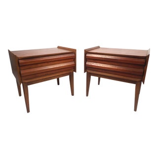 Midcentury Nightstands by Lane Furniture- a Pair For Sale