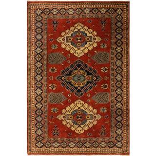 Sherwan VI Rust/Blue Wool Rug - 4'6 X 6'1 For Sale