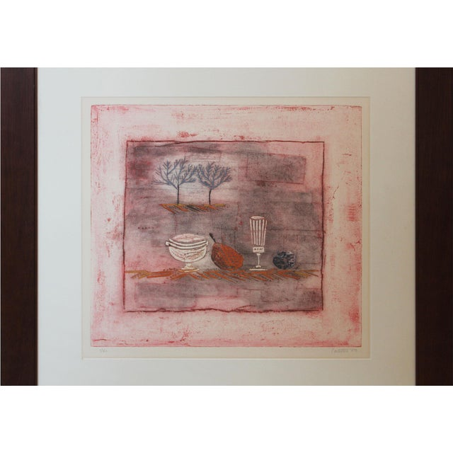 Late 20th Century Late 20th Century Vintage Louttie Modern Still-Life Etching Print For Sale - Image 5 of 7