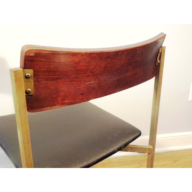 Mid-Century Floating Seat Metal Chairs - A Pair - Image 5 of 8