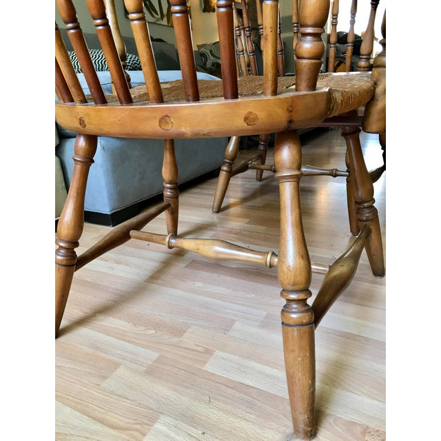1920 Barnard & Simonds Rochester NY Windsor Chairs - Set of 4 For Sale - Image 10 of 11