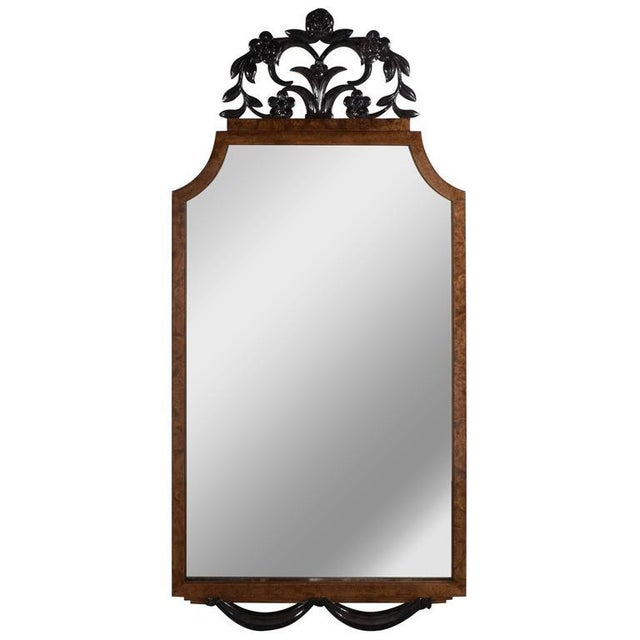 Brown Elegant Art Deco Mirror, Circa 1935 For Sale - Image 8 of 8