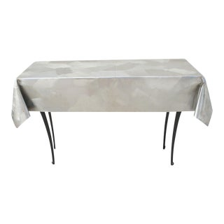 Modernist Metal Console Table For Sale