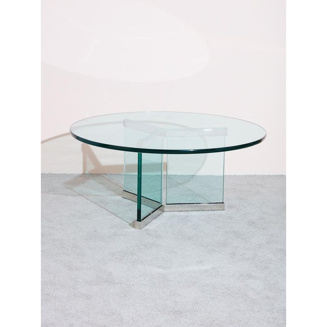 1980s Pace Collection Glass Coffee Table For Sale - Image 5 of 5