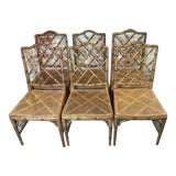Image of Vintage Bamboo Chairs- Set of 6 For Sale