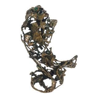 Ben Kupferman Bronze Sculpture With Malachite For Sale