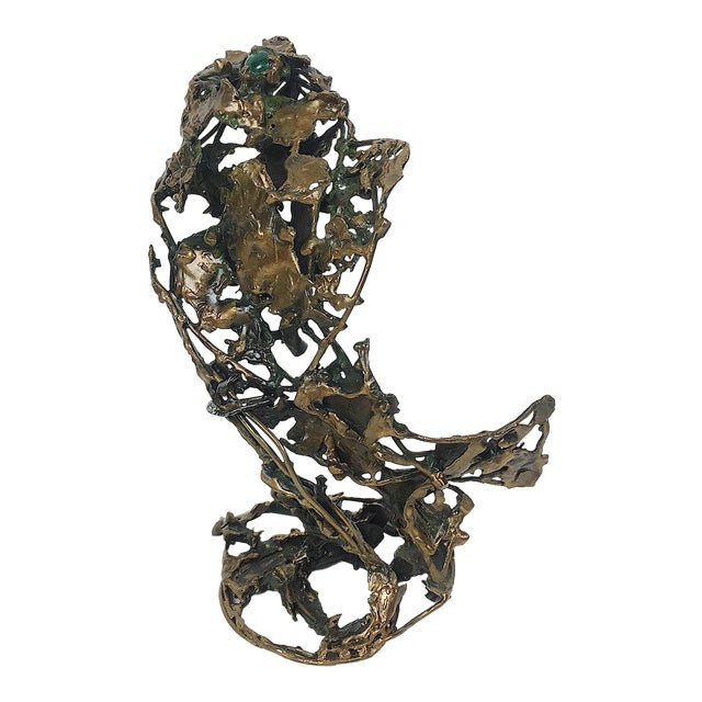 Ben Kupferman Bronze Sculpture With Malachite For Sale