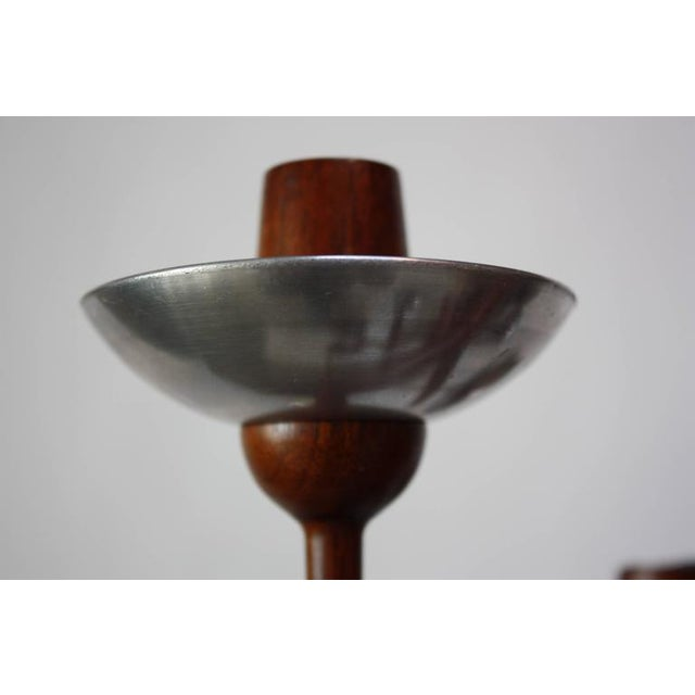 1960s James Martin Carved Walnut Floor Candelabrum For Sale In New York - Image 6 of 11
