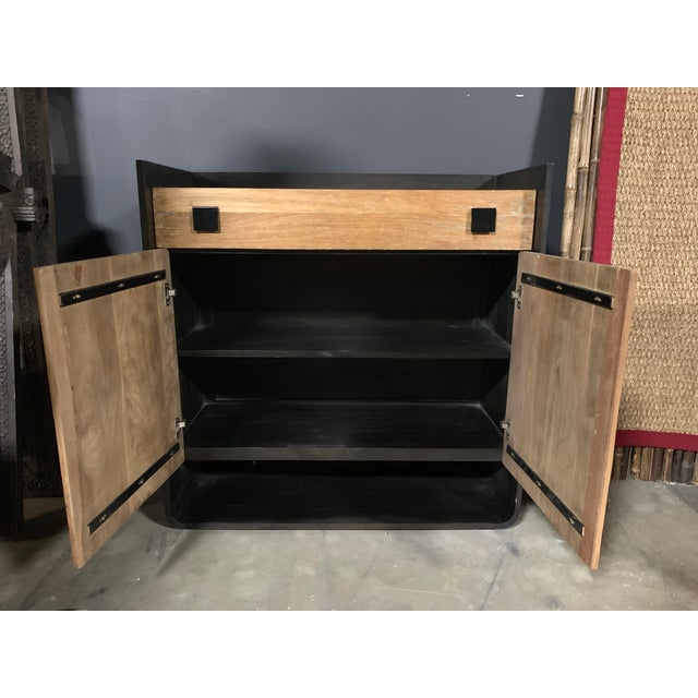 Wood & Metal Dresser For Sale - Image 4 of 5