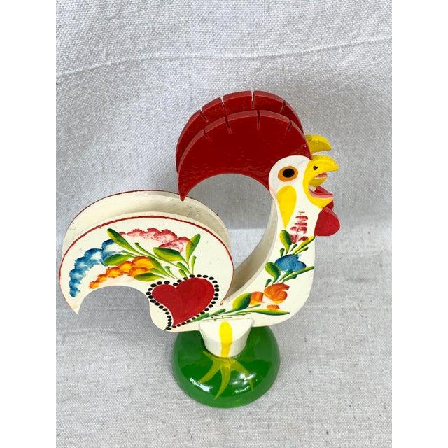 Vintage Rooster Napkin Holder For Sale - Image 4 of 8