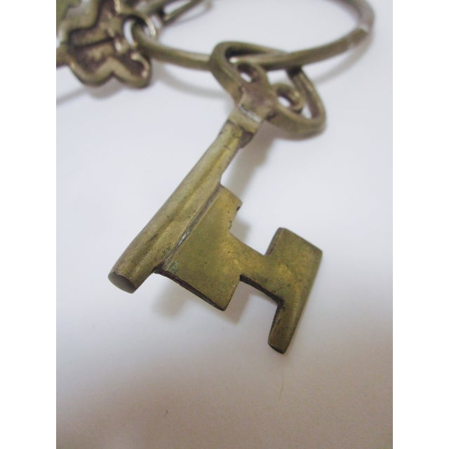 Oversize Hollywood Glam Large Brass Skeleton KeyS Ring Set - Image 9 of 9