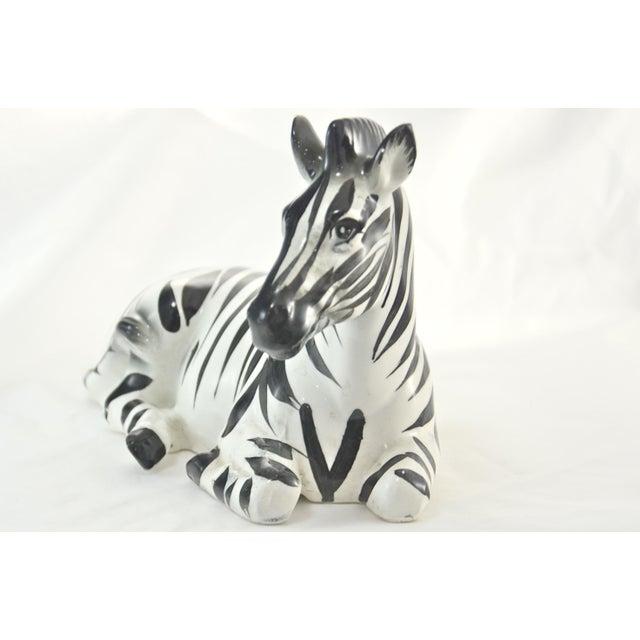 Capodimonte Italian Hand Painted Zebra For Sale - Image 4 of 10