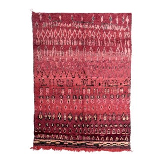 1970s Vintage Moroccan Boujad Rug - 6′5″ × 8′4″ For Sale