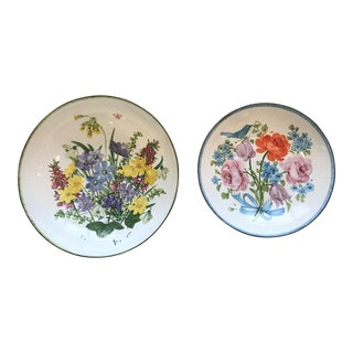 Vintage Hand Painted Austrian Trinket Dishes - a Pair For Sale