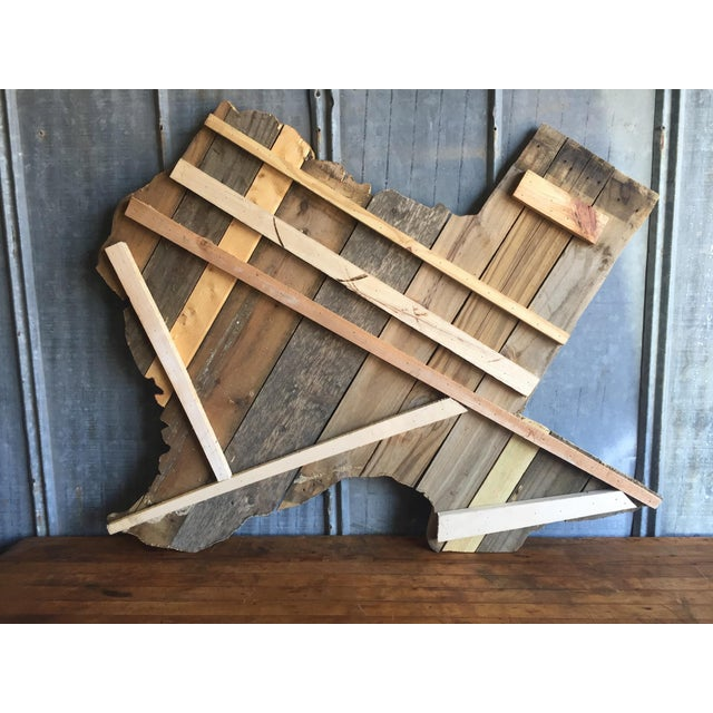 Reclaimed Barn Wood Texas Sign - Image 4 of 7