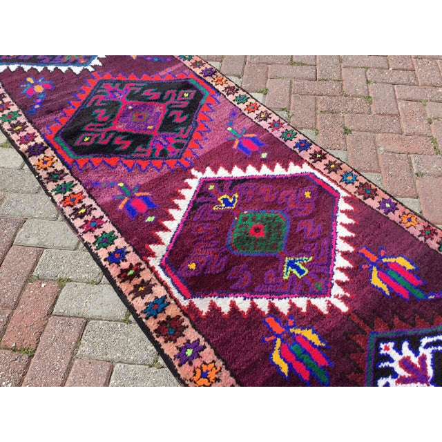 Vintage Anatolian Runner Rug For Sale In Raleigh - Image 6 of 8